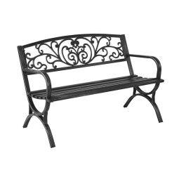 Скамейка садовая Pooffe Flowers | Черный