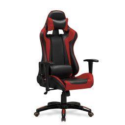 Кресло поворотное Halmar Defender | Черный / Красный