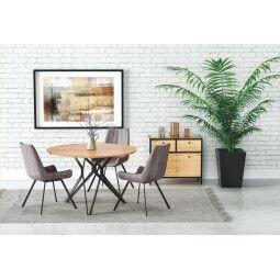 Стол обеденный Halmar Pixel 2 | Дуб золотой / Черный