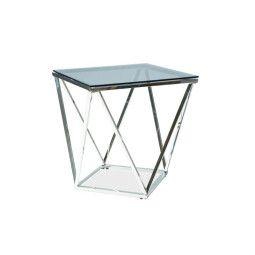 Столик журнальный Signal Silver B | Дымчатое стекло / хром