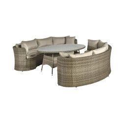 Комплект мебели садовый Pooffe Como | Коричневый / Бежевый