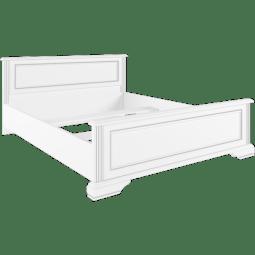 Кровать Gerbor Вайт | 140x200 / Ясень снежный / Сосна серебрянная
