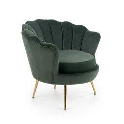 Кресло Halmar Amorinito | Темно-зеленый / Золотой