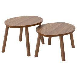 IKEA Комплект столиков STOCKHOLM (ИКЕА СТОКГОЛЬМ)