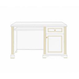 Стол письменный Gerbor Вайт 130 | Сосна золотая (новые направляющие)
