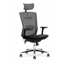 Кресло поворотное Halmar Ambasador | Черный / Серый