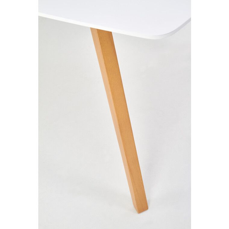 Стол раскладной Halmar Kajetan   82х135 / Белый / Дуб медовый фото - 4
