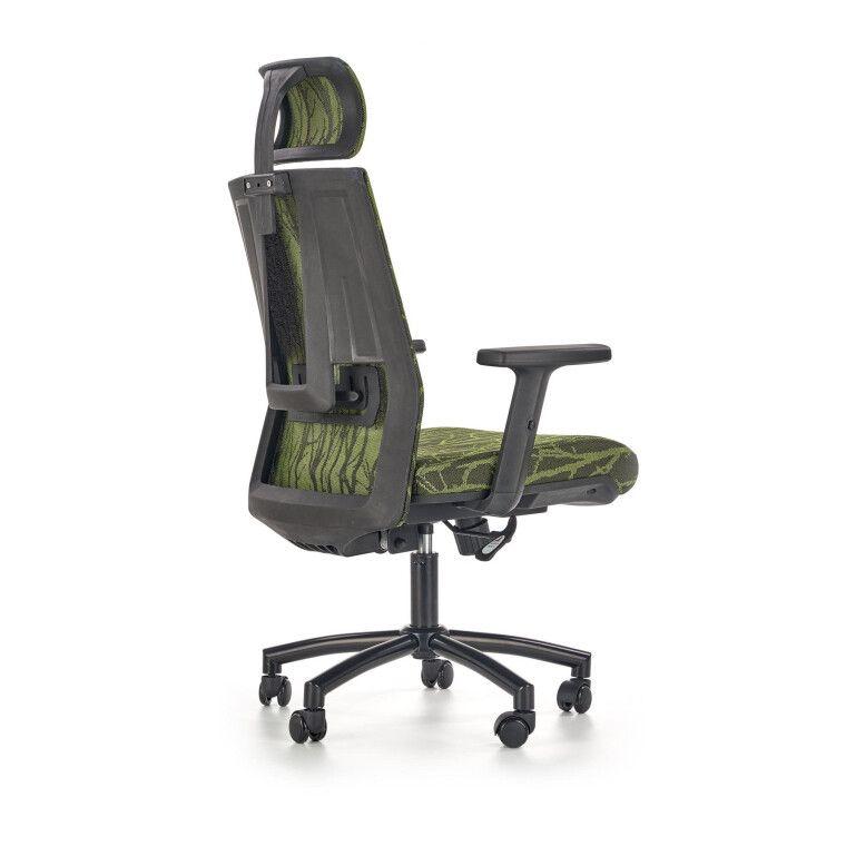 Кресло поворотное Halmar Tropic   Зеленый / Черный фото - 4