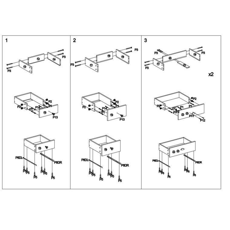Стеллаж Halmar Mezo Reg-1 | Коричневый - 3
