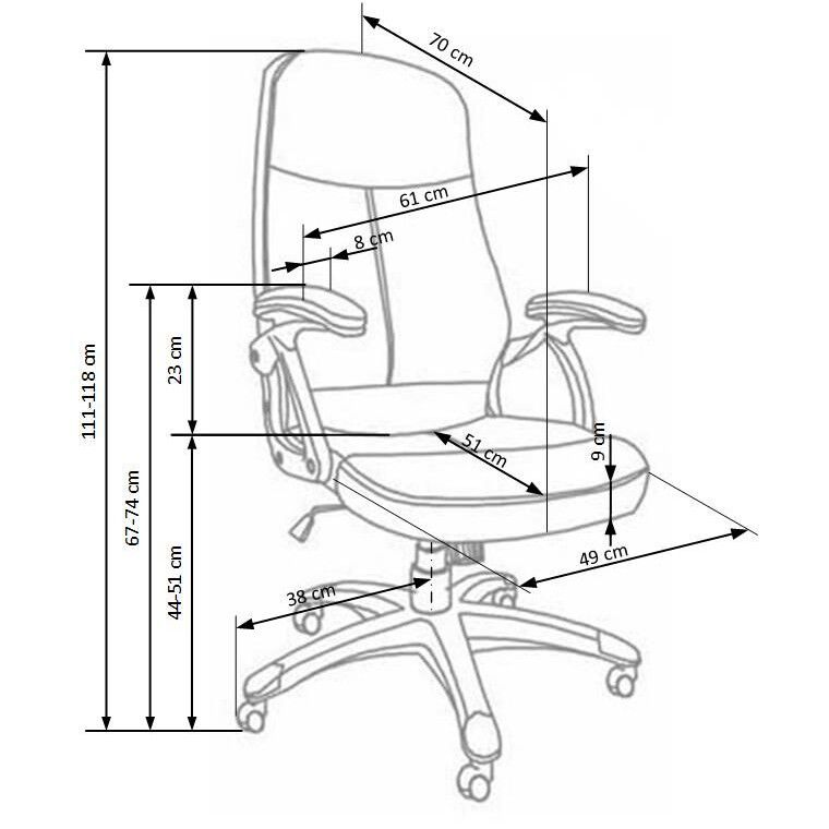 Кресло поворотное Halmar Edison | Черный - 2