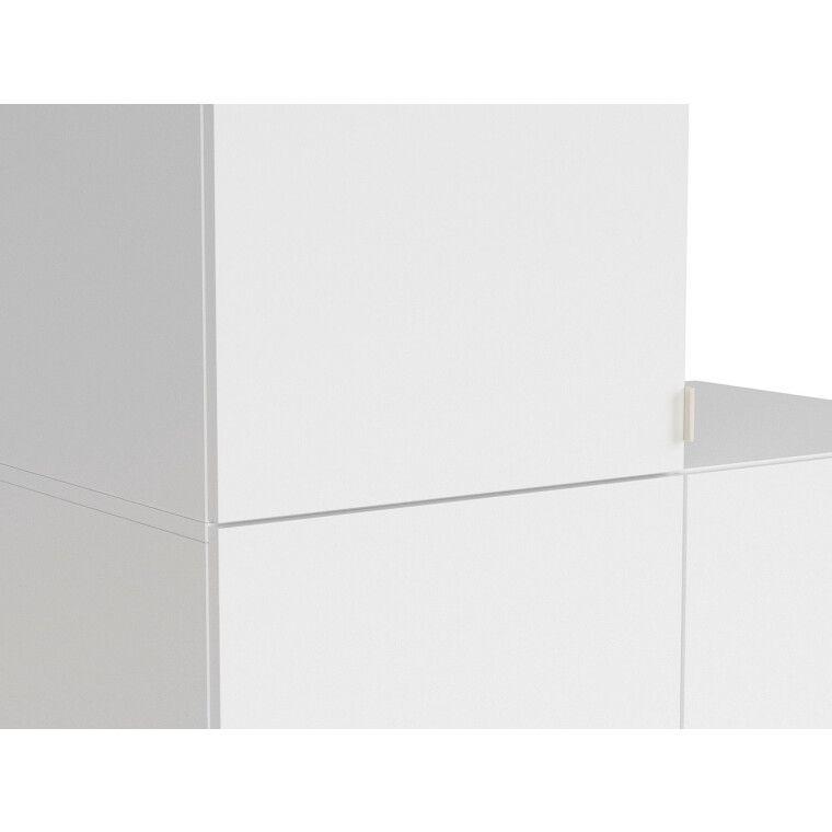 Шкаф BRW Princeton   Белый / Дуб польский / Серый фото - 4