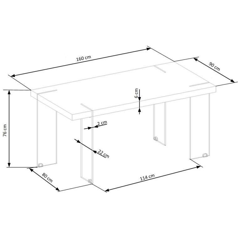 Стол обеденный Halmar Milton | Белый - 5
