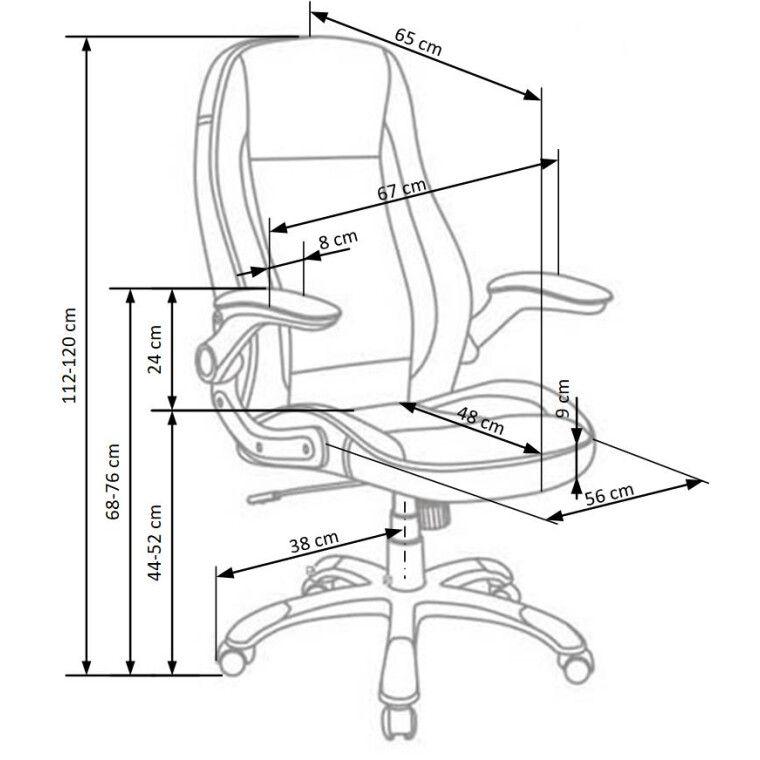 Крісло поворотне Halmar Saturn   Білий - 2