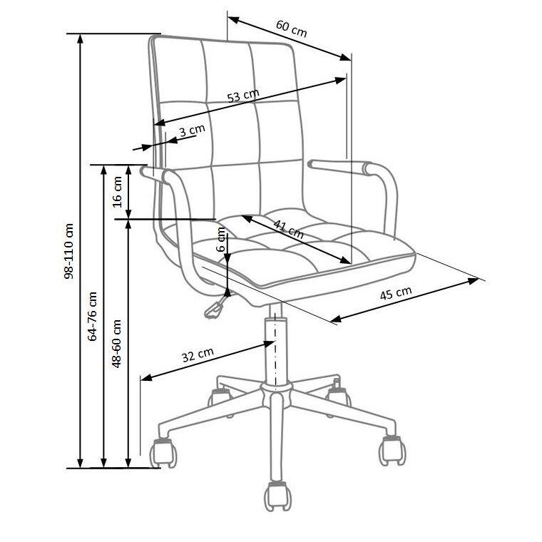 Кресло поворотное Halmar Gonzo 3   Серый - 2