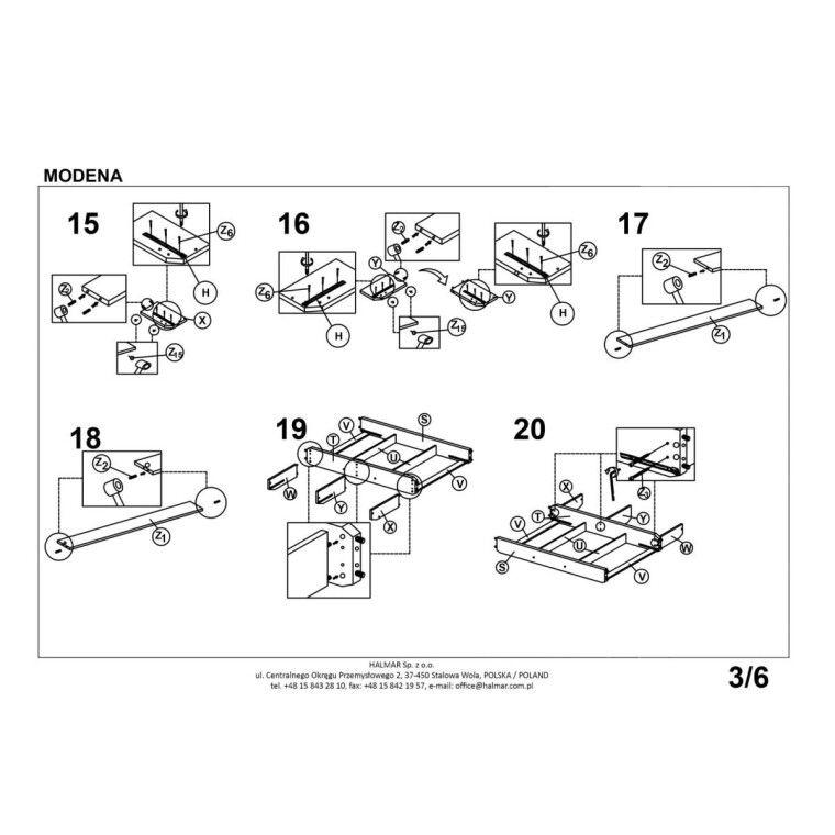 Кровать Halmar Modena 2 | 160х200 / Белый - 4