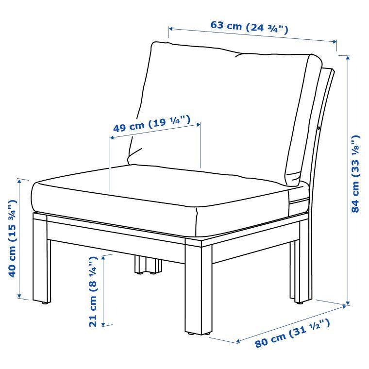 Кресло садовое ÄPPLARÖ - 5