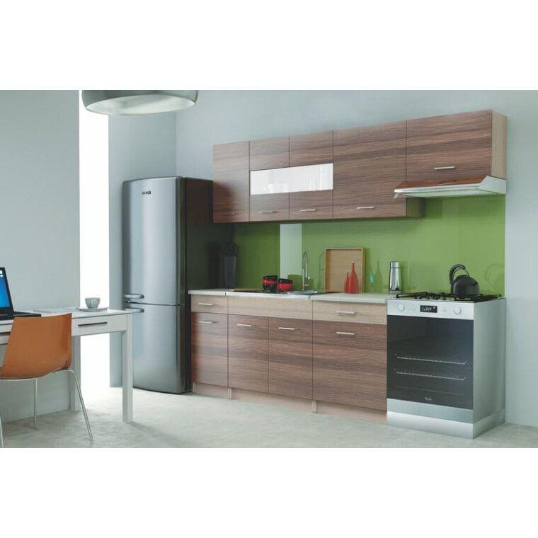 Кухонный гарнитур Halmar Alina 240 | Вяз пьемонт / дуб молочный