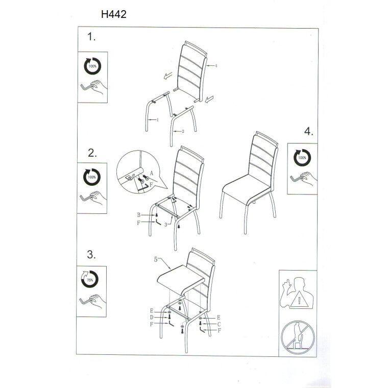 Cтул Signal H-422 | Белый / черный - 3
