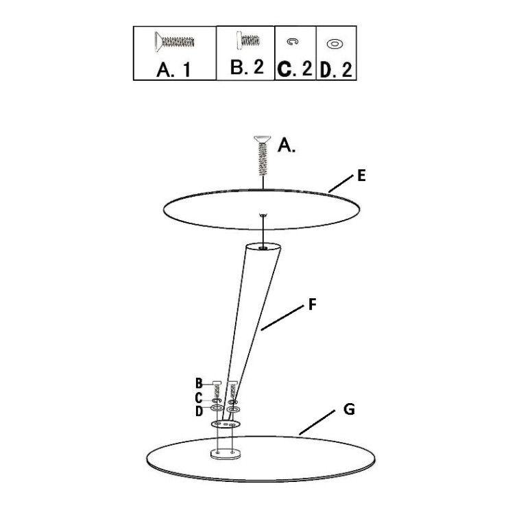 Стол кофейный Signal Tutti | Прозрачный / хром - 2