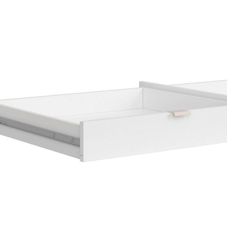 Ящик для стола BRW Princeton   Белый / Дуб польский / Серый - 3