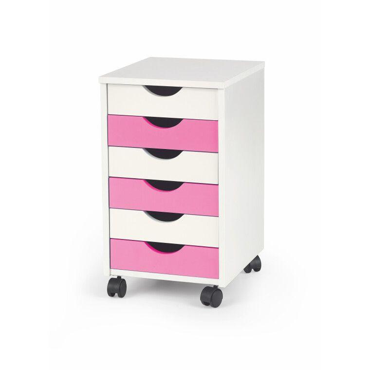 Комод Halmar Pierre 2 | Белый / розовый