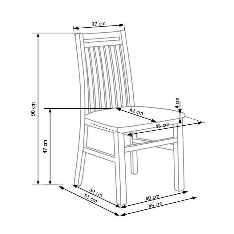 Стул кухонный Halmar Hubert 9 | Дуб сонома / серый (Inari 23) - 3