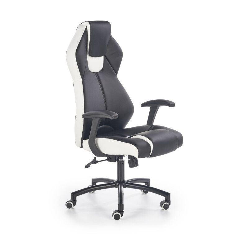 Кресло поворотное Halmar Torano | Черный / белый