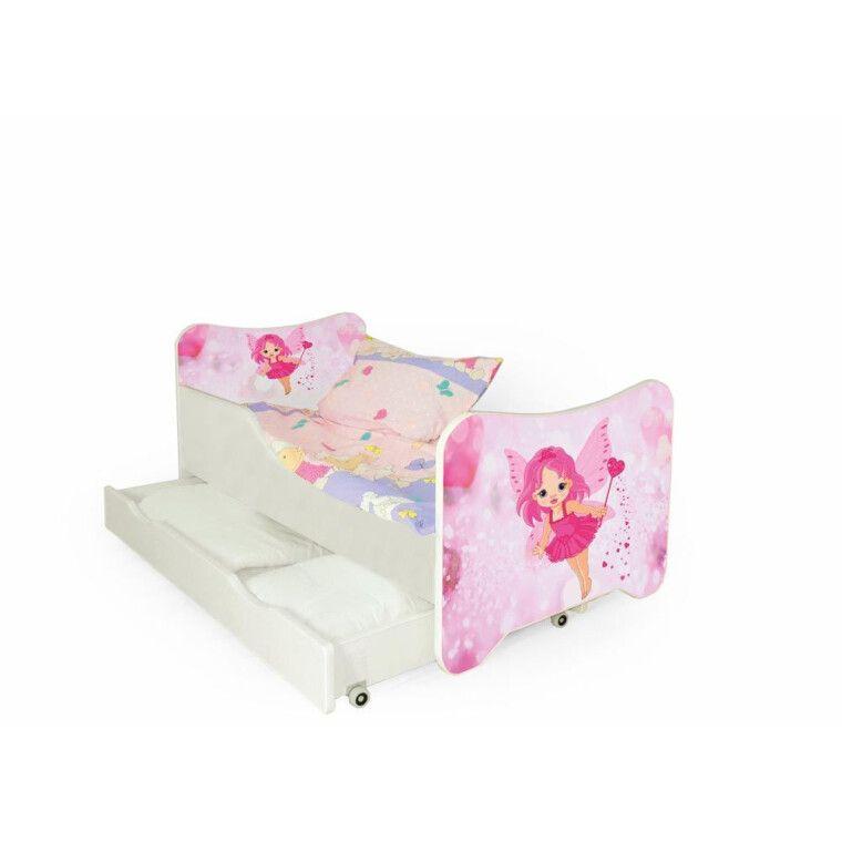 Кровать детская с матрасом Halmar Happy Fairy | Розовая фея - 3