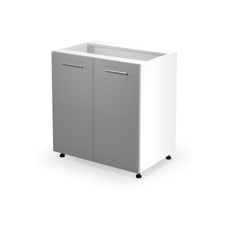 Нижний шкаф модульный Halmar Vento D-80/82 | Светло-серый