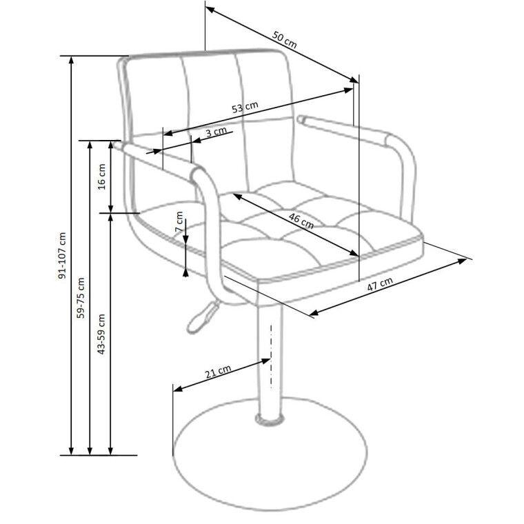 Кресло поворотное Halmar Gonzo | Розовый - 2