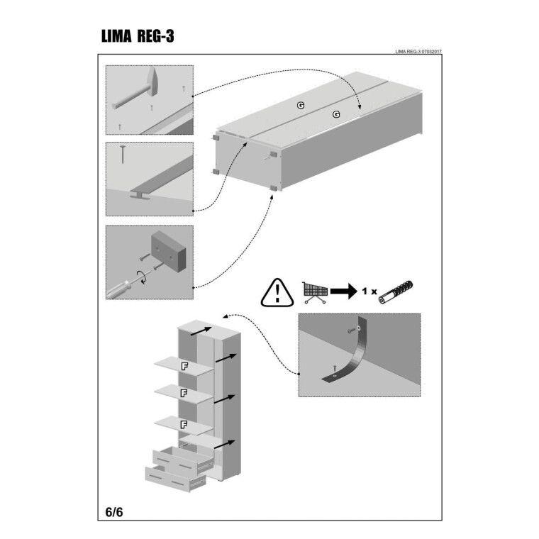 Стеллаж Halmar Lima Reg-3 | Дуб Сонома - 8