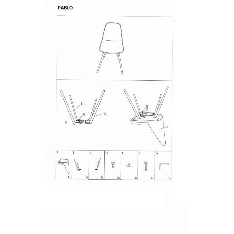 Стул Signal Pablo | Синий - 3
