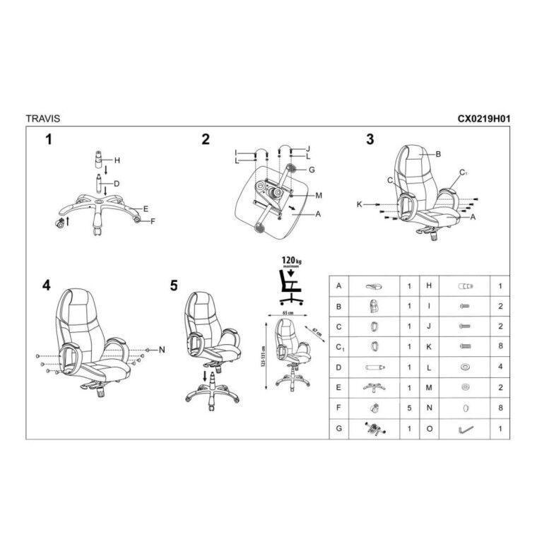 Кресло поворотное Halmar Travis | Черный - 4