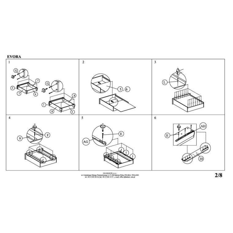 Кровать Halmar Evora | 160х200 /  Бежевый - 4