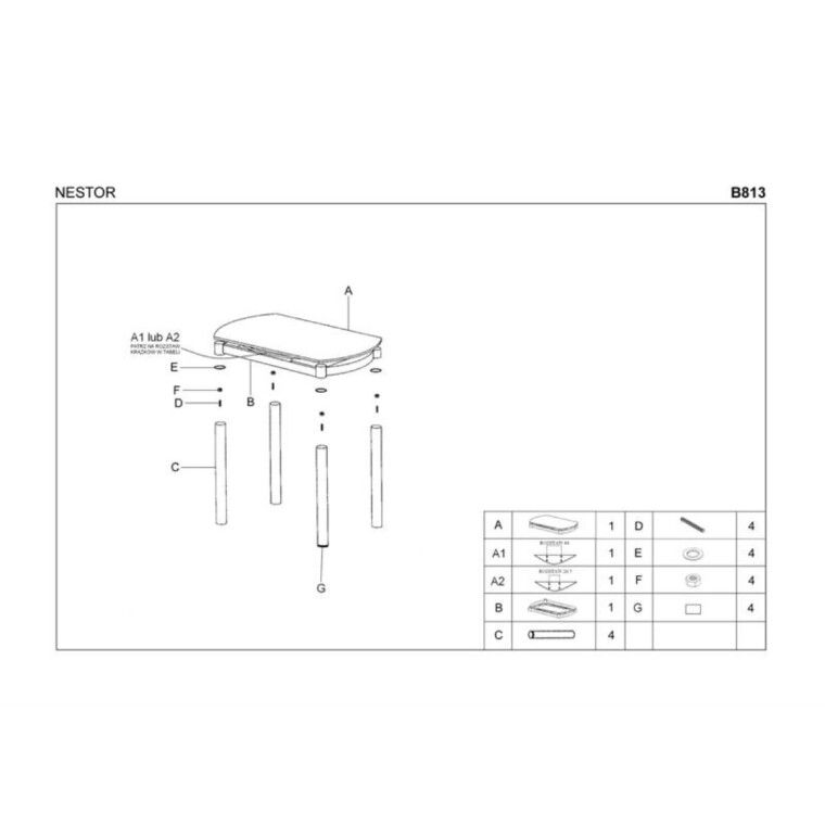 Стол раздвижной Halmar Nestor | Серый - 3