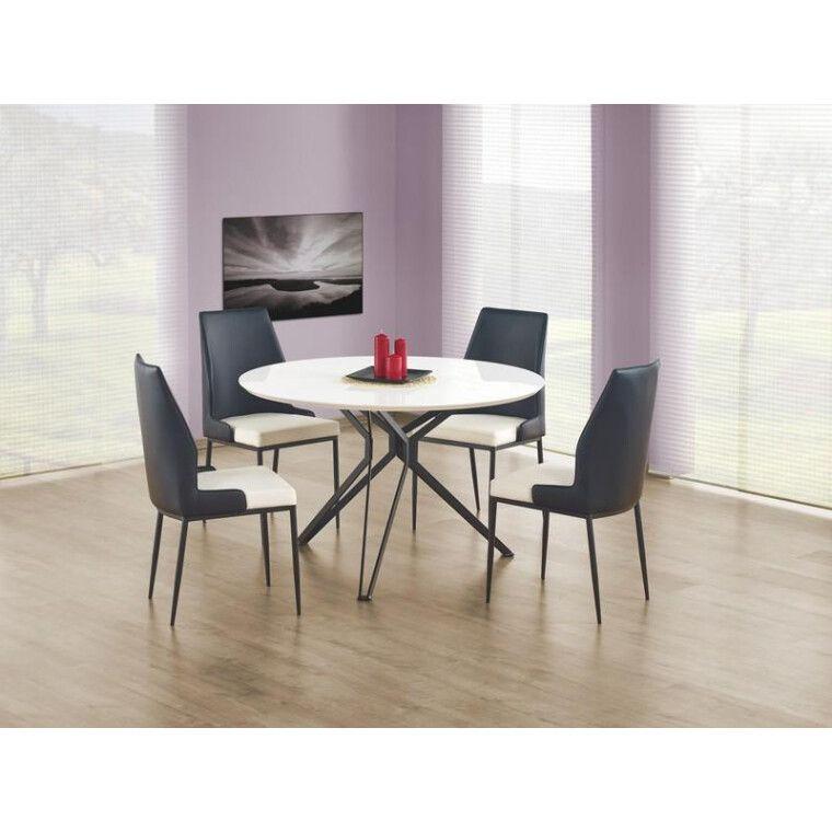 Стол обеденный Halmar Pixel | Белый / Черный