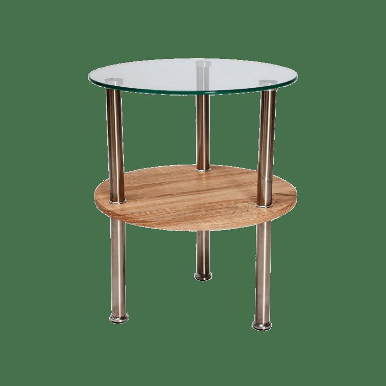 Стол Signal Ivet  | Дуб сонома / хром