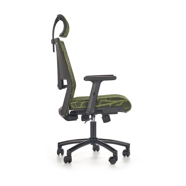 Кресло поворотное Halmar Tropic   Зеленый / Черный фото - 3
