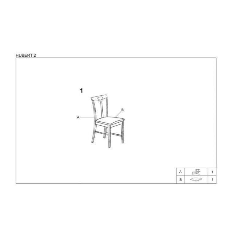 Стул кухонный Halmar Hubert 2 | Темный орех / бежевый - 3
