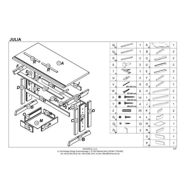Стол Halmar Julia | Сосна - 2