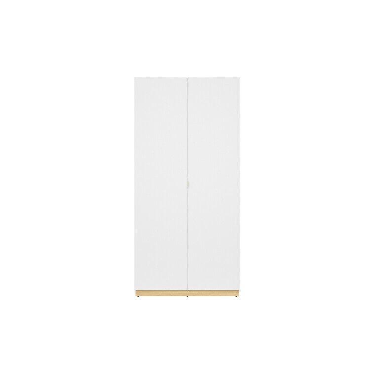 Шкаф BRW Princeton | Белый / Дуб польский / Серый