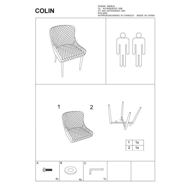 Cтул Signal Colin | Серый - 2