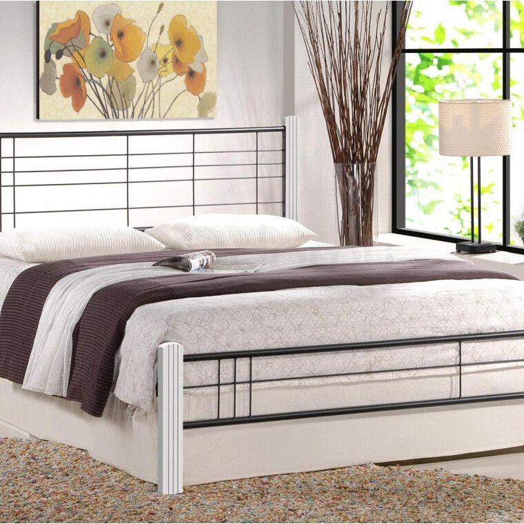 Кровать Halmar Viera | 160х200 / Белый / Черный