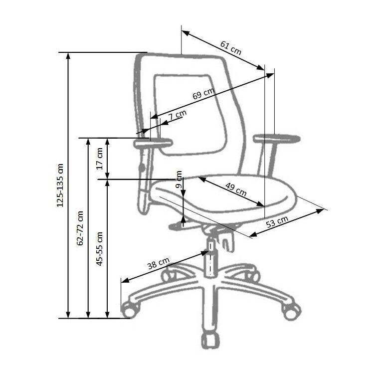 Кресло поворотное Halmar Victor | Черный - 3