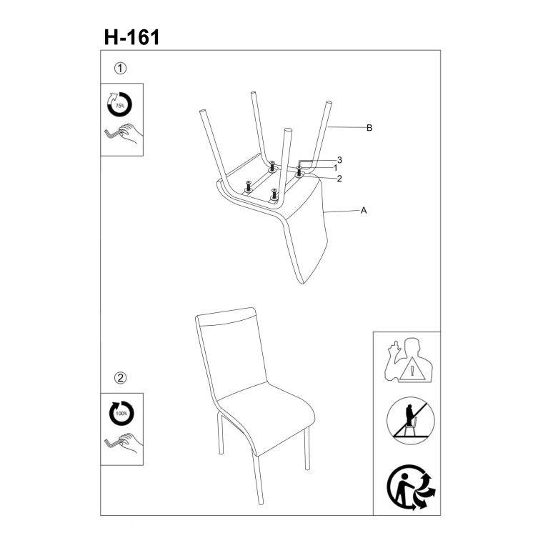 Cтул Signal H-161 | Белый / черный - 3