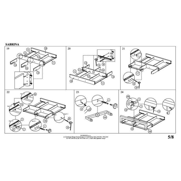 Кровать Halmar Sabrina   160х200 / Серый - 10
