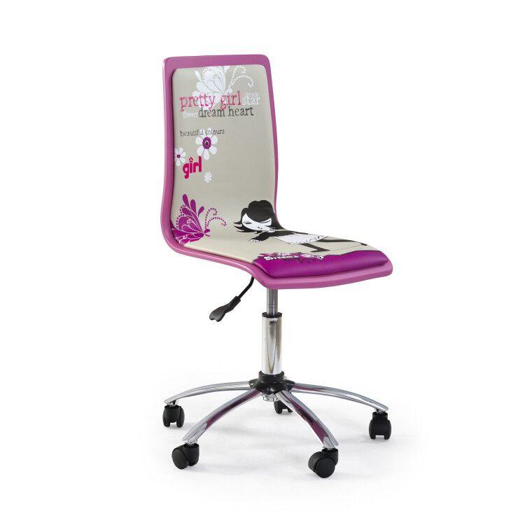 Кресло поворотное Halmar Fun-1 | Розовый