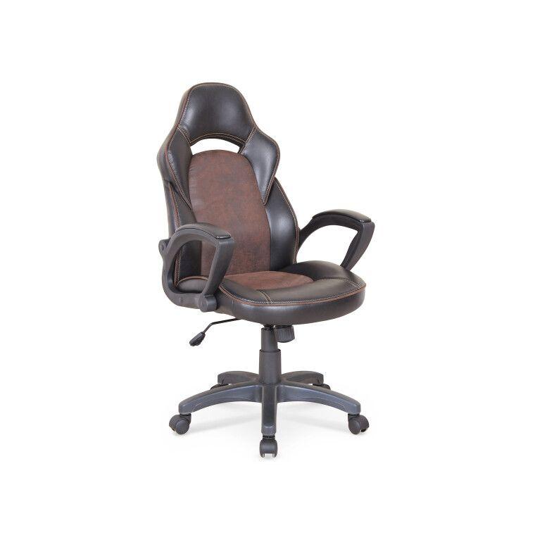 Кресло поворотное Halmar Lizard | Черный / коричневый