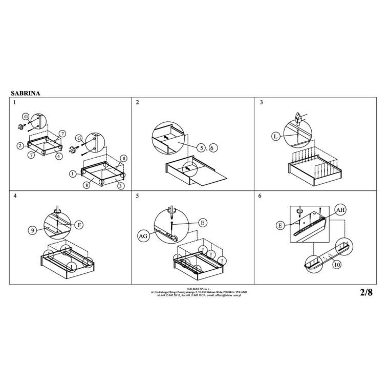 Кровать Halmar Sabrina   160х200 / Серый - 5