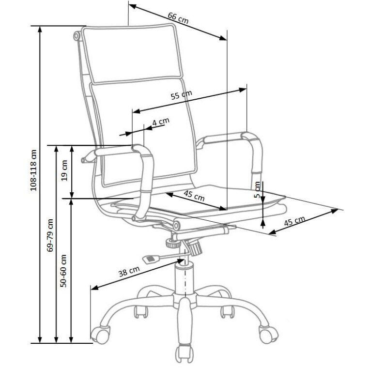 Кресло поворотное Halmar Mantus   Черный - 2